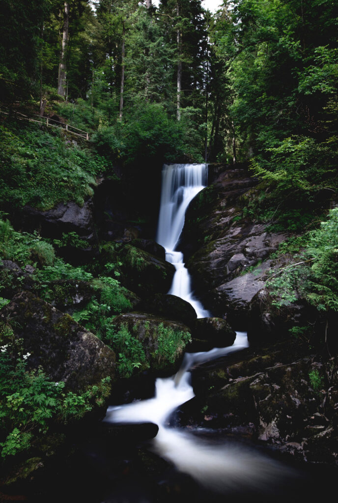 waterfall in black forest, germany