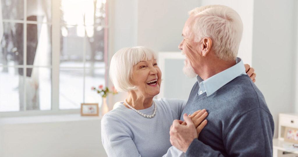 Pension Insurance - elderly couple enjoying retirement